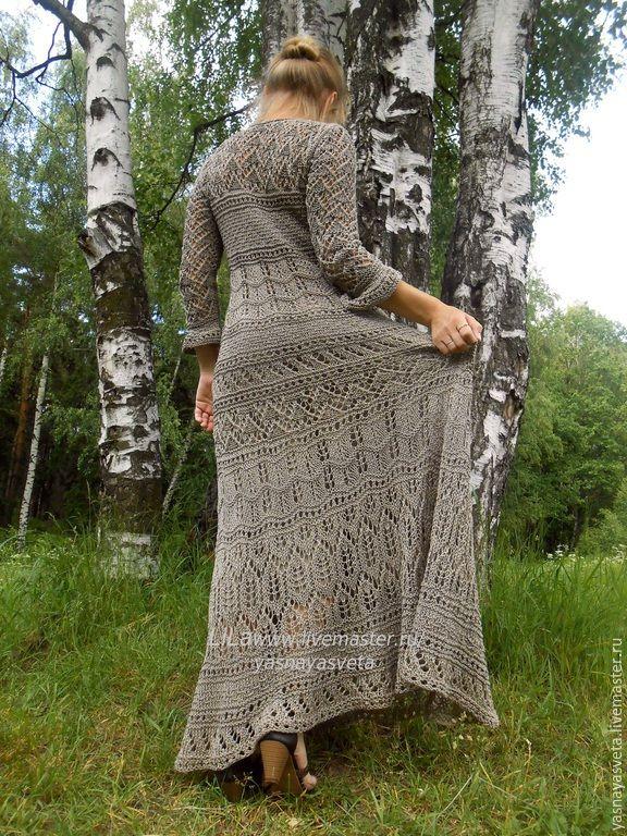 Купить Платье вязаное Forest - платье вязаное, платье, платье летнее, платье крючком