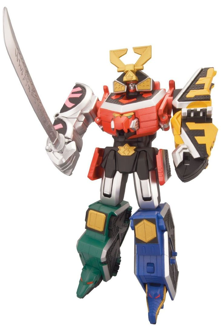 Power Ranger Samurai Megazord Action Figure. Disconnect the Megazord into the 5 individual Zords and reenact your favorite scene where good prevails over evil. Each Zord corresponds to the Ranger colors as seen in the TV series Red Lion, Green Bear, Blue Dragon, Yellow Ape and Pink Turtle. The Samurai Megazord includes a Katana sword that can be stored inside the waist or held in the Megazord's hand. Collect and combine with the ZordBuilder Collection Cycles or Zord Vehicles (#31550 or...
