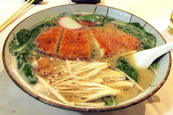 Ramen noodles with chicken katsu and miso from Daikanyama in Lexington, MA (from http://www.hiddenboston.com/foodphotos/daikanyama-ramen.html)