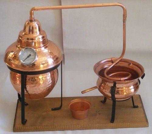 Beautiful Large 5 Litre Copper Essential Oil Still