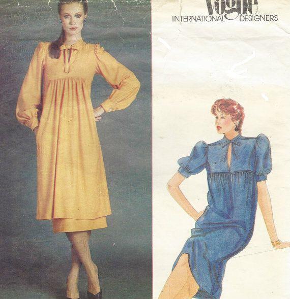 80s Renata Womens Empire Waist Lagenlook Dress or by CloesCloset