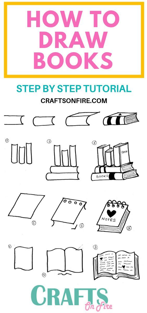 How To Draw A Book: Easy Step By Step Tutorial You'll Love   – Bullet Journal | Doodles