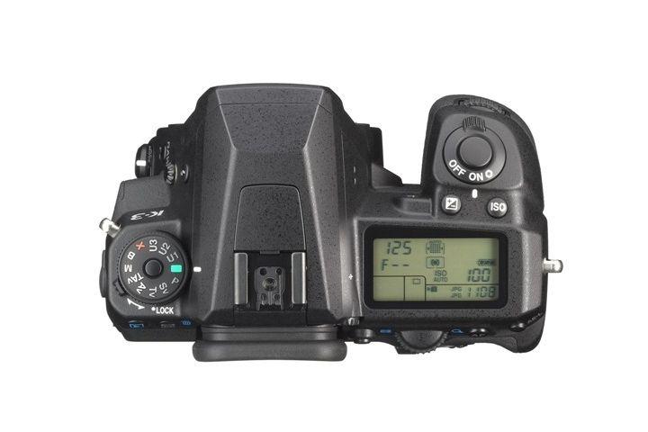 Kč 30 790,- Pentax-K-3 bez objektivu, horní pohled na Pentax K-3, Fototechnika Dolejš cz