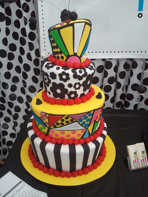Britto Cake by Mighty Fine Cakes, via Flickr