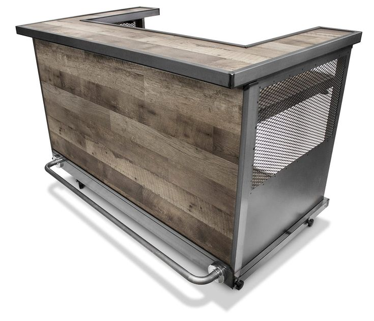 Distressed Portable Bar, Outdoor Bar On Wheels