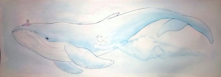 Débora / ink & watercolor 25x70