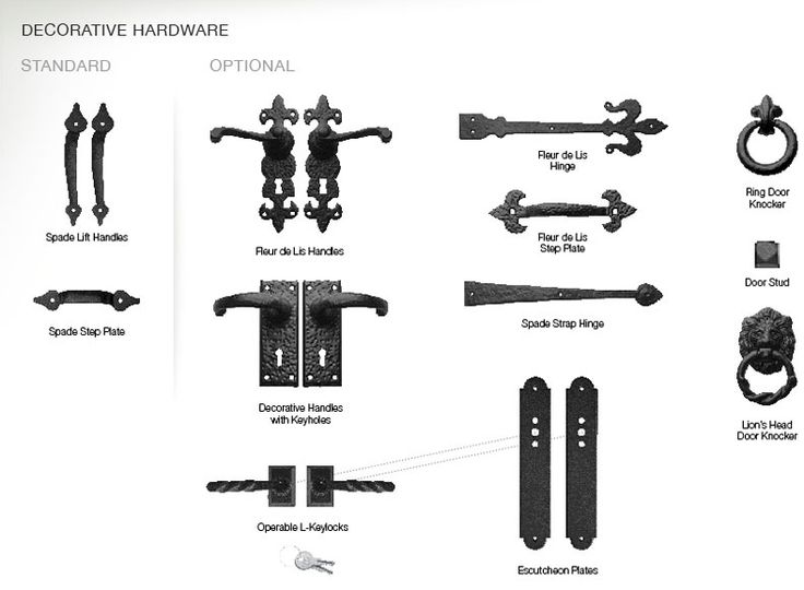 Design Tip Decorative hardware is like  jewelry  for the garage door. Make sure  sc 1 st  Pinterest & 33 best Garage Door Decorative Hardware images on Pinterest ... pezcame.com