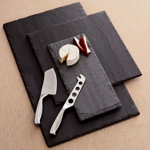 Using slate as your chopping board is a great rustic alternative to wood, just handle them with care