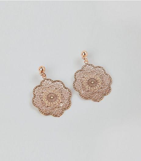 Flower Filigree Drop Earrings from New Look £3,99