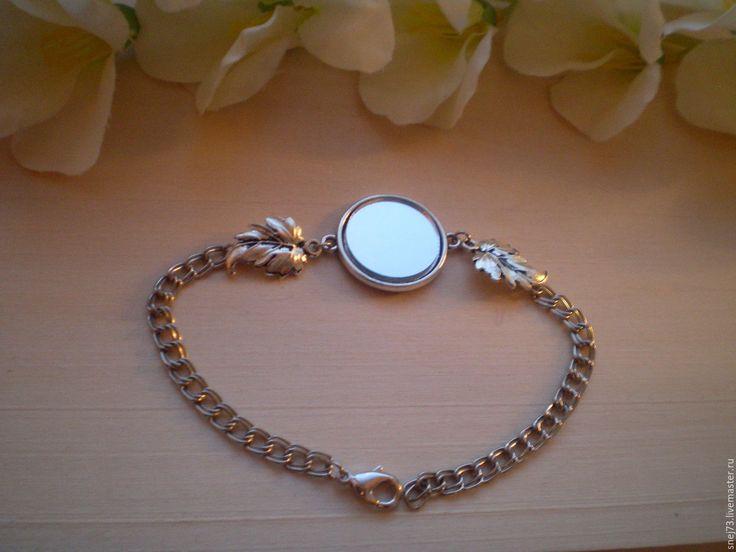 Купить Браслет с зеркалом оберег от сглаза. - серебряный, оберег, оберег в подарок, оберег ручной работы