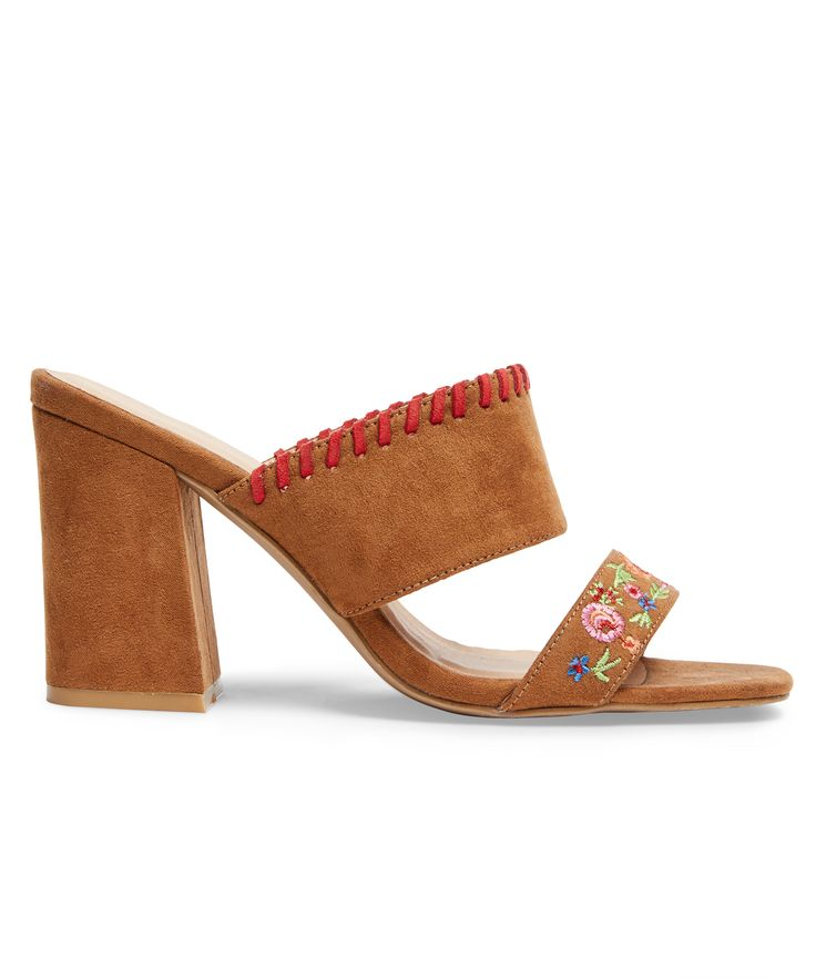 charismatic embroidered mules bring carefree boho vibes to your