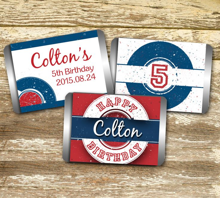 Mini Candy Bar Wrapper - Boy Birthday, Red and Blue Birthday, Personalized Birthday Wraps, Printable Birthday Favors, Birthday Boy Wrap by LittlePrintsOttawa on Etsy