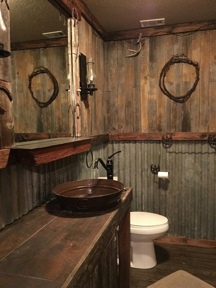 Decorative Rustic Storage Projects For Your Bathroom: 30 Awesome Rustic Bathroom Ideas For Men #rusticbathroom #bathroomideas #bathroom ⋆ Zonamasak.m