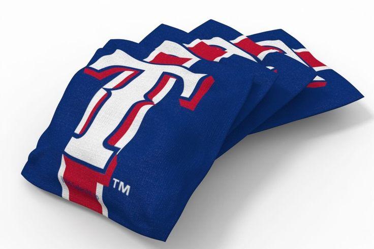 Texas Rangers Stripe Bean Bags-4pk (A)
