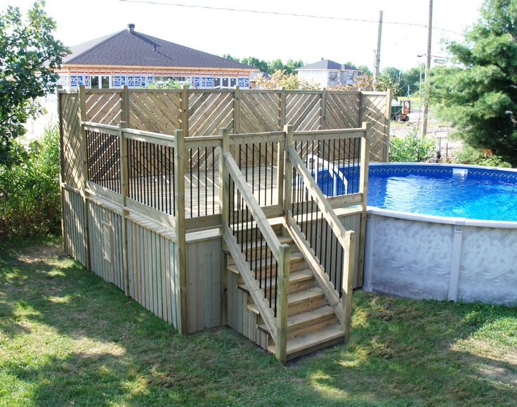 Pinterest the world s catalog of ideas for Construire deck piscine