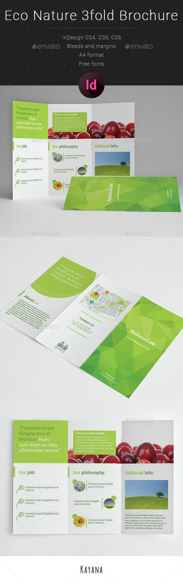Eco Nature 3fold Brochure Template InDesign INDD #design Download: http://graphicriver.net/item/eco-nature-3fold-brochure/14550104?ref=ksioks