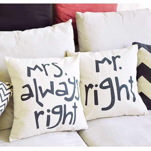 Home Decorative Romantic Soft Bed Anniversary Mr/Mrs Right Cotton Linen Pillow Case Cushion Wedding Valentine's Gift Covers #Affiliate