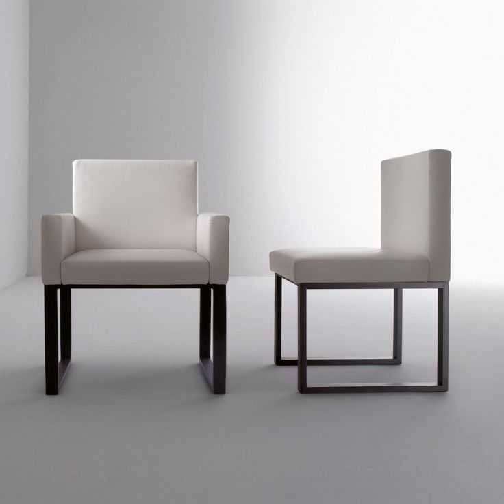 BD 03 B - Chair with padded back and seat, upholstered in leather or fabric. Wooden legs made in all sample woods. Designed by Bartoli Design | Laurameroni