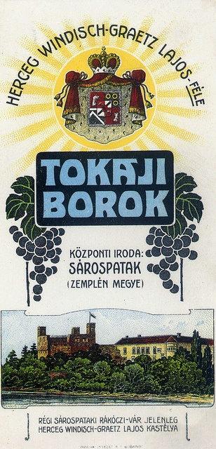Vintage Hungarian Advertisement - Tokaji wines 1907 by takacsi75, via Flickr
