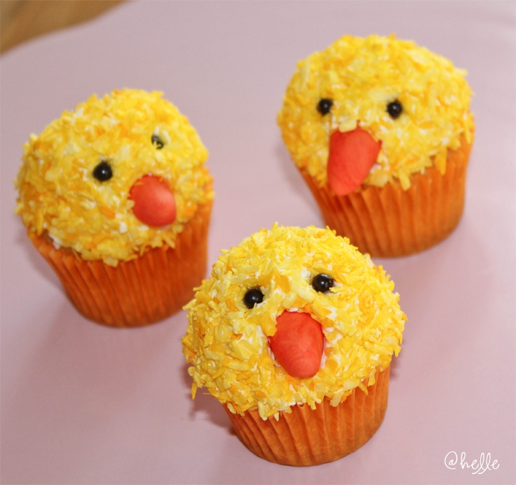 Påsk-cupcakes, Easter-cupcakes, easter cupcake / easter cupcakes - made by helle