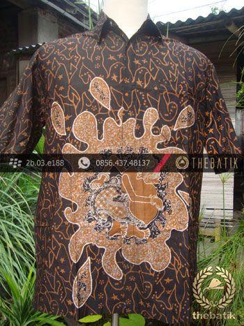 Kemeja Batik Seragam Motif Semar Kuning Kombinasi | #Indonesia Men Women #Batik Tops Shirt #Clothing http://thebatik.co.id/baju-batik/