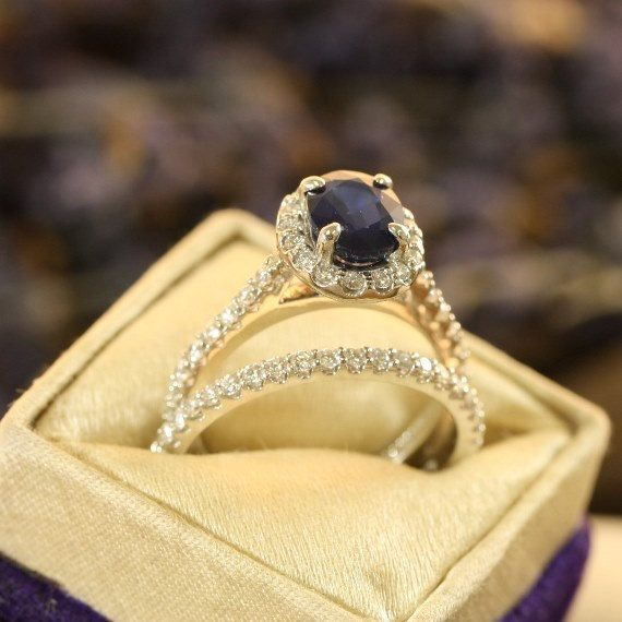 This one is pretty, but I really like the warranty on it :D Bridal Set Natural Sapphire Engagement Ring by LaMoreDesign, $2514.00