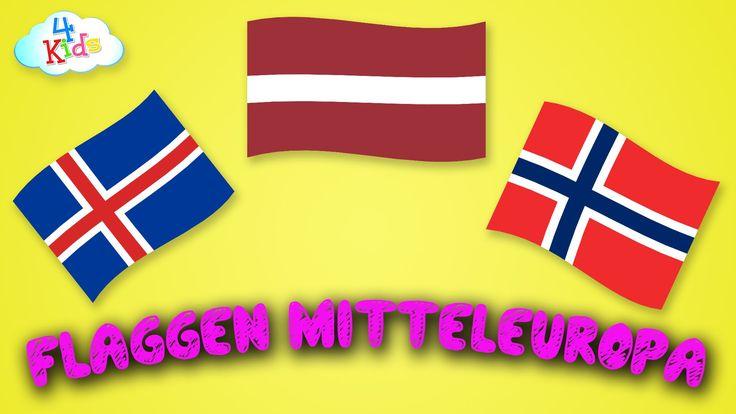 Flaggen und Länder von Europa (Mittel) lernen für Kinder (deutsch)