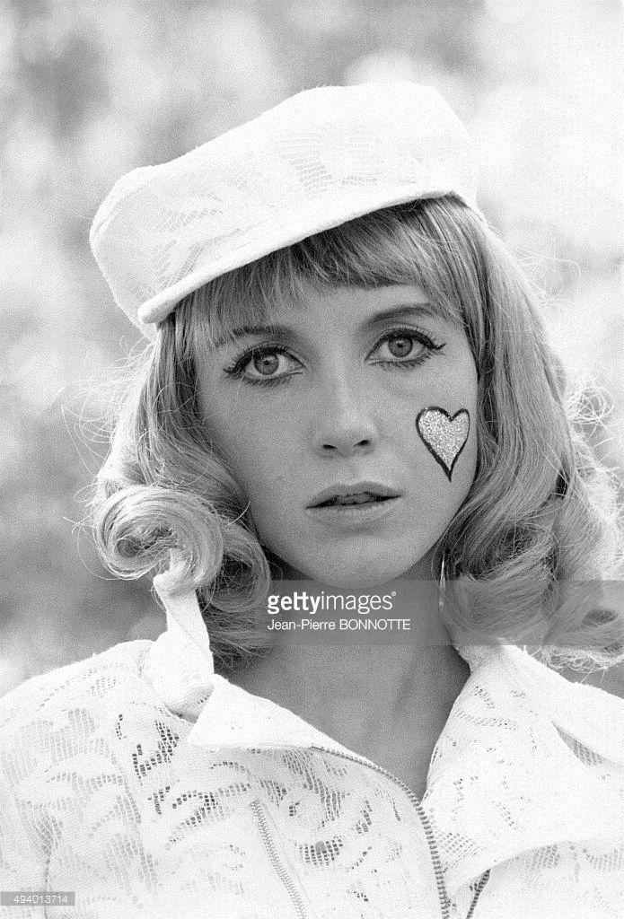 Portrait de Bulle Ogier, actrice française, en France, circa 1970.