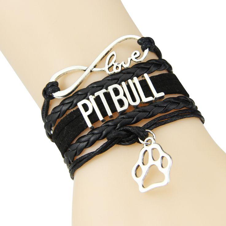 Fiashion Infinity love PITBULL bracelet rope leather dog pet paw charm bracelets & bangles for women men jewelry Drop Shipping