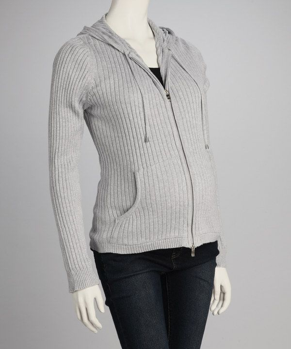 Take a look at this Lilo Maternity Gray Maternity Zip-Up Hoodie on zulily today!
