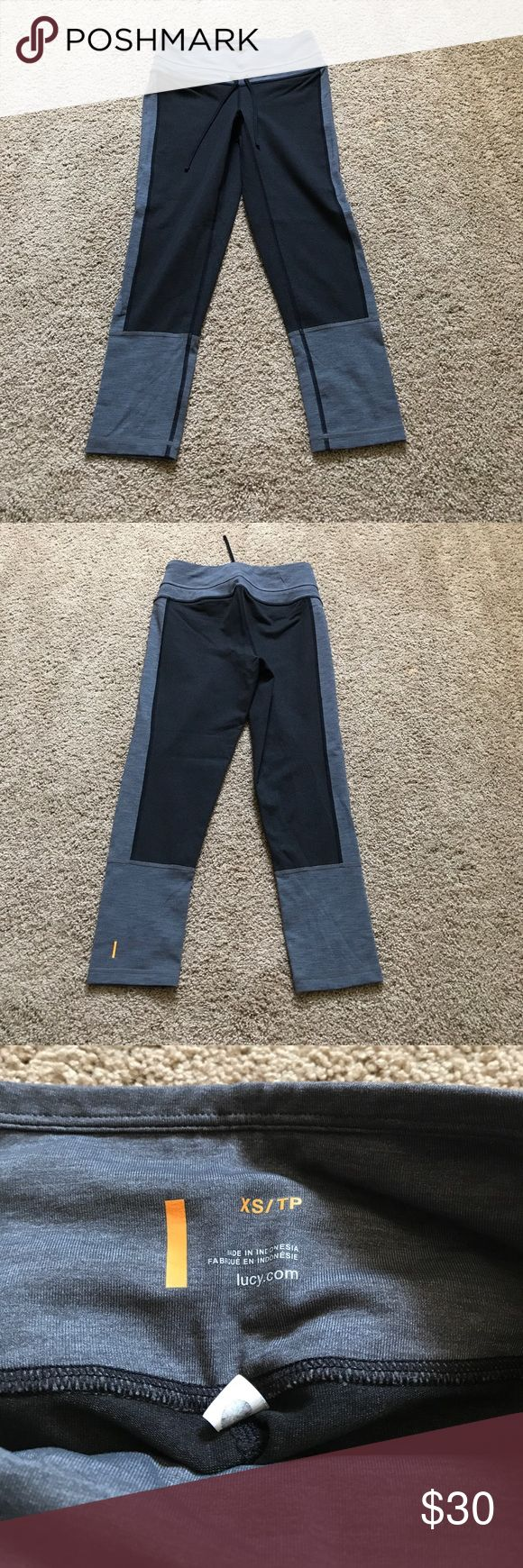 Lucy x training capri - BNWOT! Very comfy and flattering. Gray and black/gray in color. Lucy Pants Capris