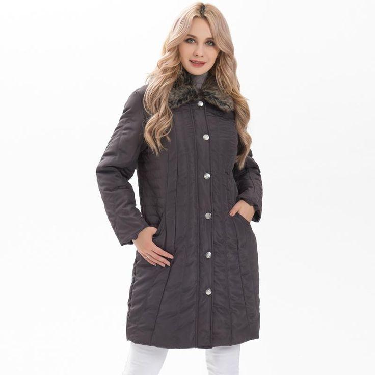 Ladies Parkas New Women jacket Autumn Winter casual Coats detachable fake fur outerwear