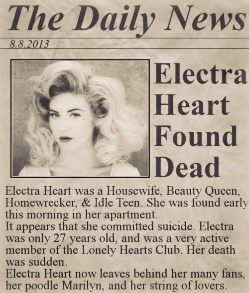 ♡ Rest In Perfection, Electra Heart ♡