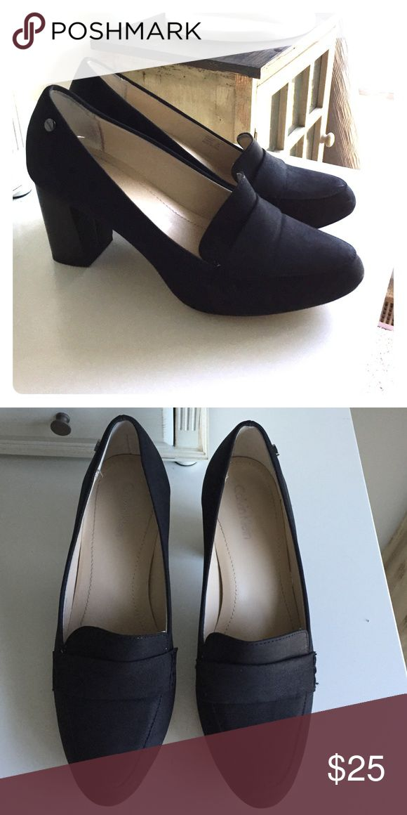 Black Calvin Klein pumps size 7m Classic, sophisticated black pumps in great condition. Used, but only worn a few times. The heel is around 3 inches high. Calvin Klein Shoes Heels