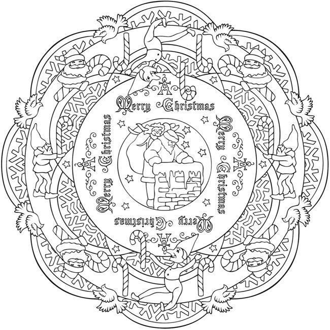 creative haven christmas mandala colouring book dover publications christmas coloring page