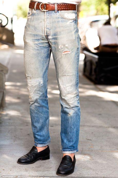 vintage jeans - tapered.