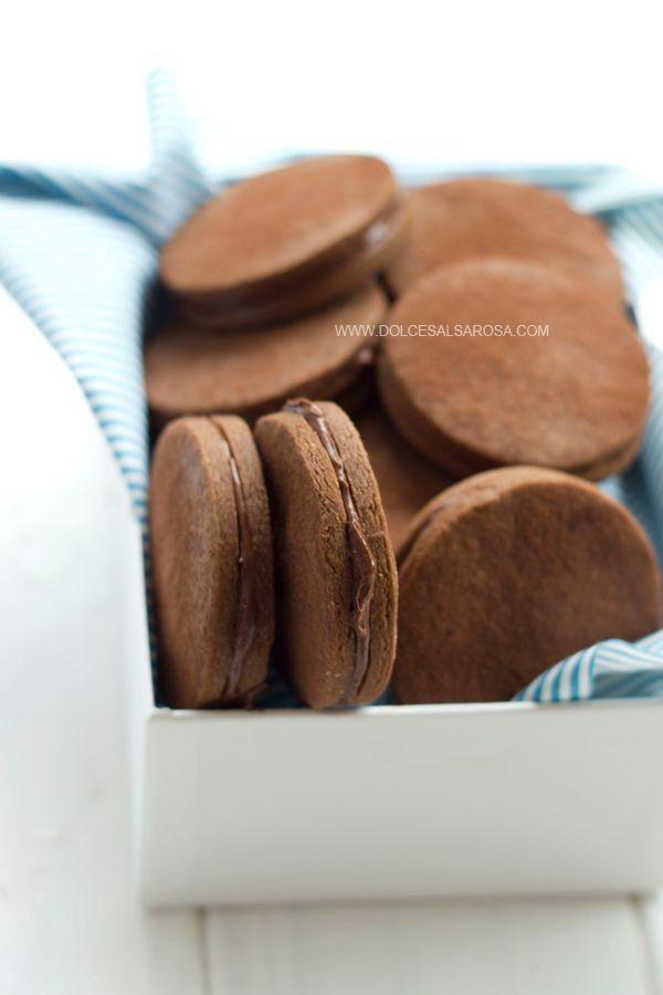 Dolce Salsarosa: Biscotti con farina di castagne e nocciolata