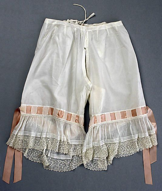 American cotton drawers from 1890