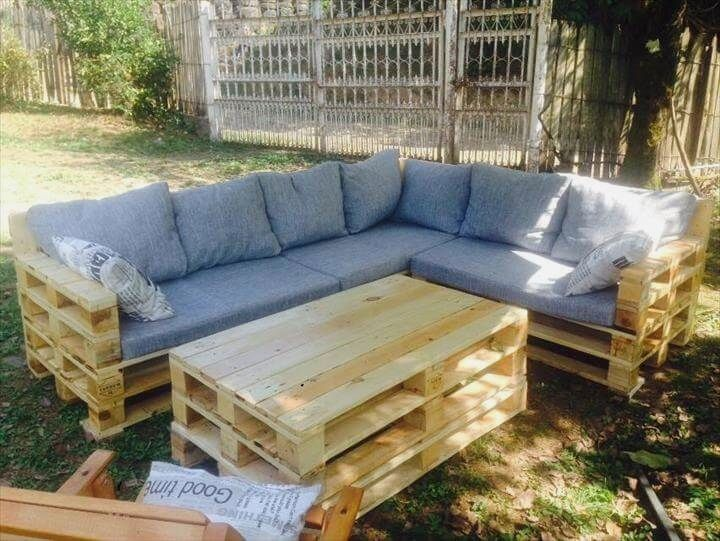 Pallet Patio Furniture Diy, How To Make A Garden Furniture With Pallets