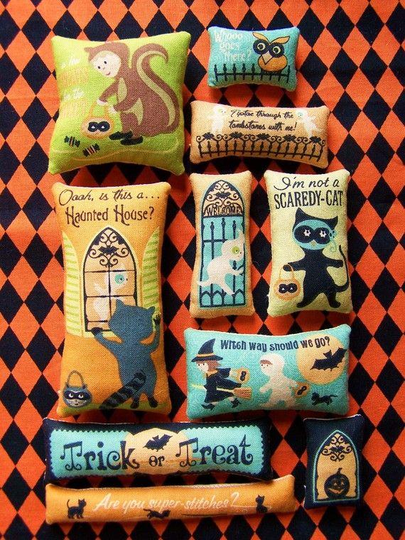 Set of 10 Grungy Primitive Halloween Bowl Filler Ornies Tucks. $12.00, via Etsy.: Grungi Primitive, Primitive Halloween