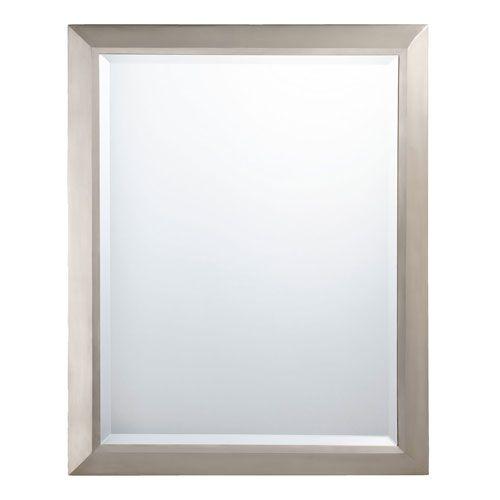 Brushed Nickel Rectangular Mirror Kichler Rectangle Mirrors Home Decor