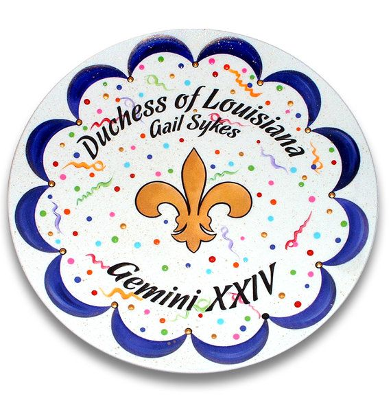 Items similar to DEPOSIT for a Personalized Mardi Gras Ceramic Krewe Plate/Platter on Etsy  sc 1 st  Pinterest & 11 best Ceramics - mardi gras images on Pinterest | Mardi gras ...