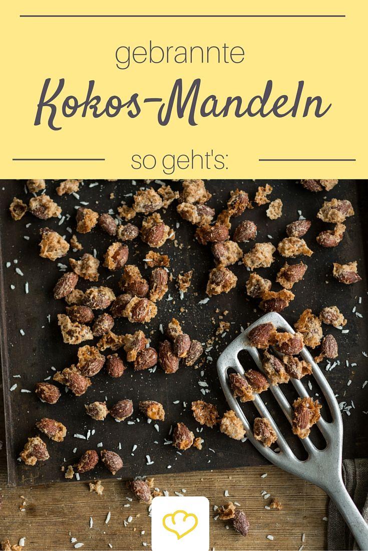 Gebrannte Mandeln kennt jeder, aber kennst du auch schon diese Variante mit Kokos?