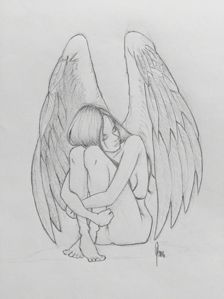 лакумы картинки ангел карандаш оригинальные