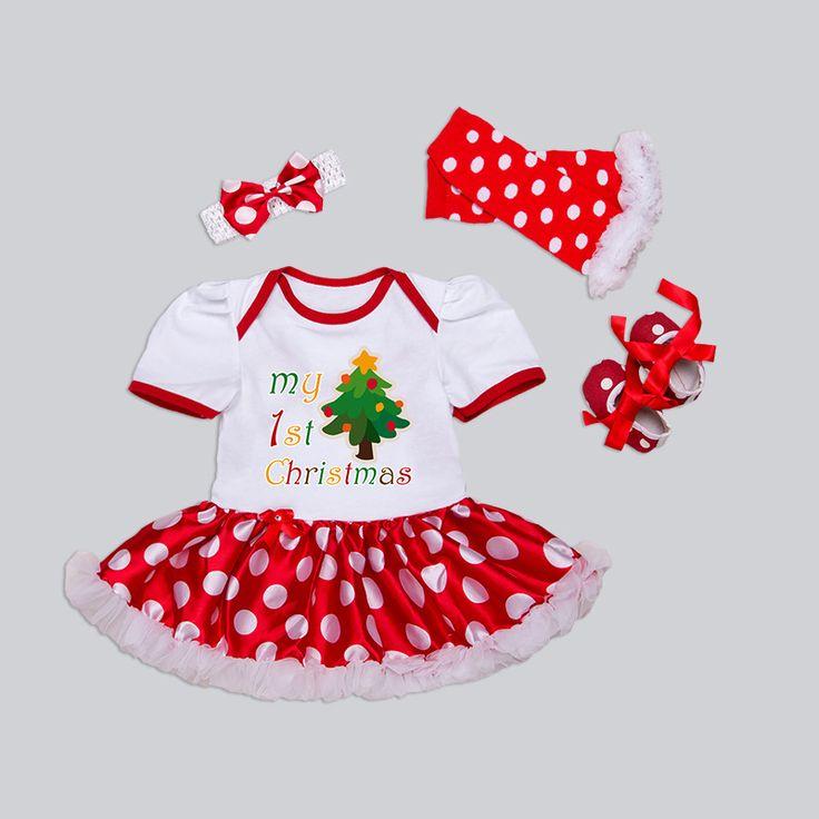 Noworodka Boże Narodzenie Ubrania Dziewczynek Odzież Ustaw Mój Pierwszy Boże Narodzenie Ubrania Dla Dzieci Zestaw Wzburzyć Tutu Sukienka New Born Baby Odzież
