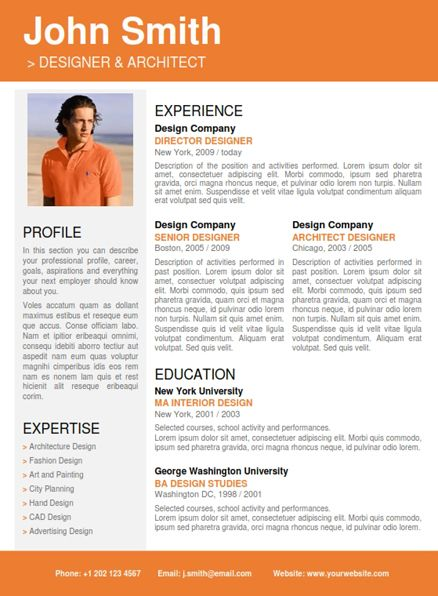 Best Professional Resume Template Images On