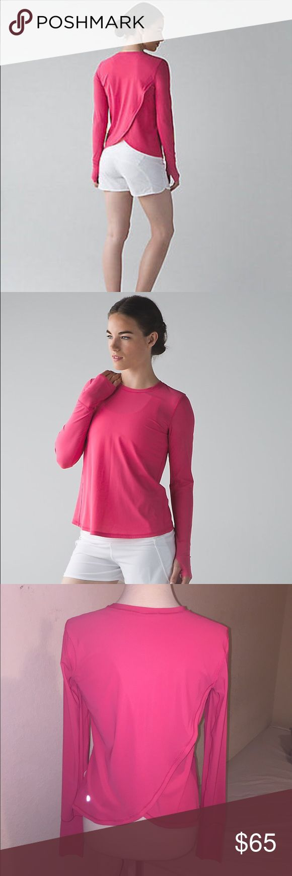 Lululemon Sunaway Runaway Long Sleeve NWT Sz 8 NWT, size 8, boom juice color. Lovely long sleeve. On sale online for $69, buy it here and save! Cheaper through PayPal or mercari lululemon athletica Tops Tees - Long Sleeve