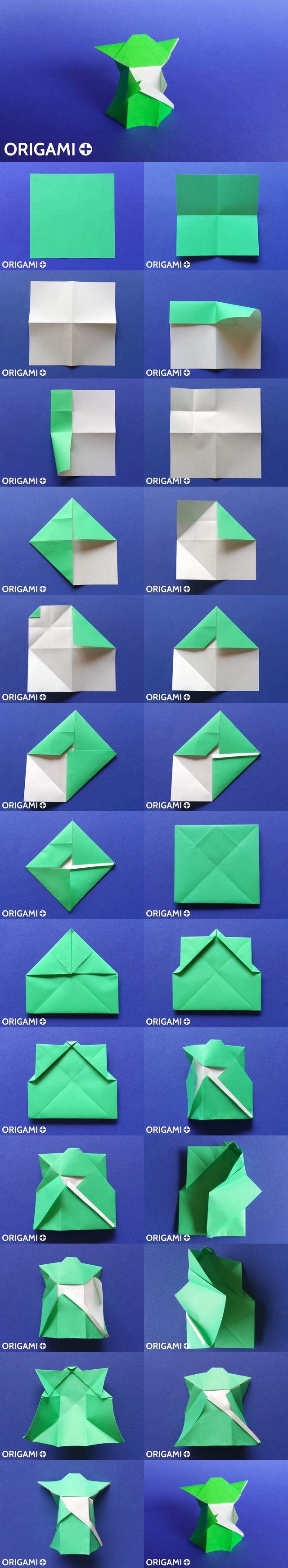Origami Yoda tutorial. Star Wars origami.