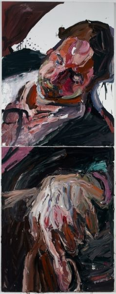 "Ben Quilty ""Luke, dead"" 2012 Oil on linen 2.8 x 1.1 m"