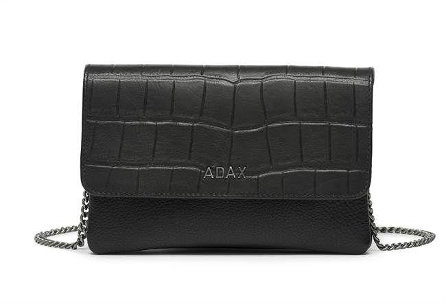 Adax Marie Nasemann combi clutch sort med klap | Køb her!